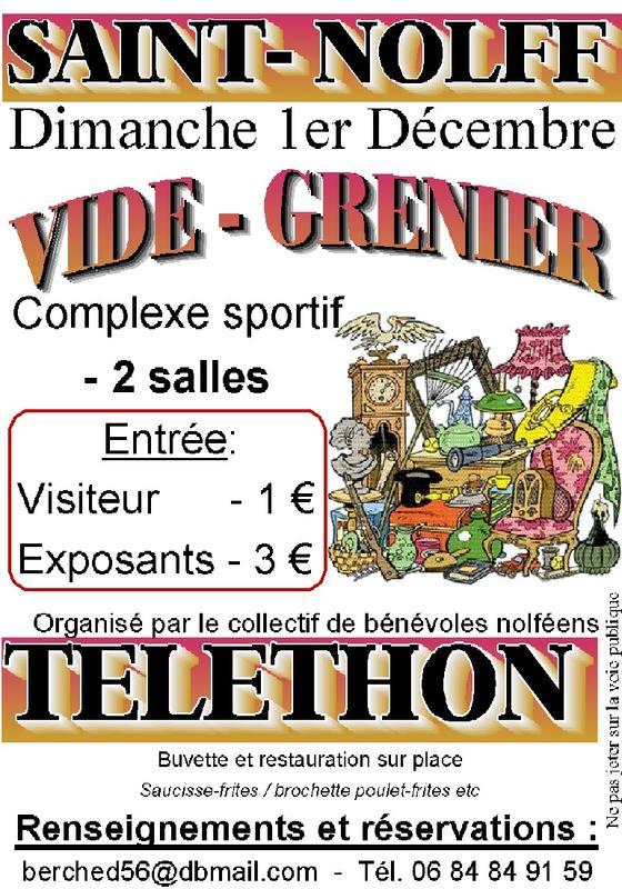 Calendrier Troc Et Puces 56.Vide Grenier Du Telethon Saint Nolff 56250 01 Decembre 2019
