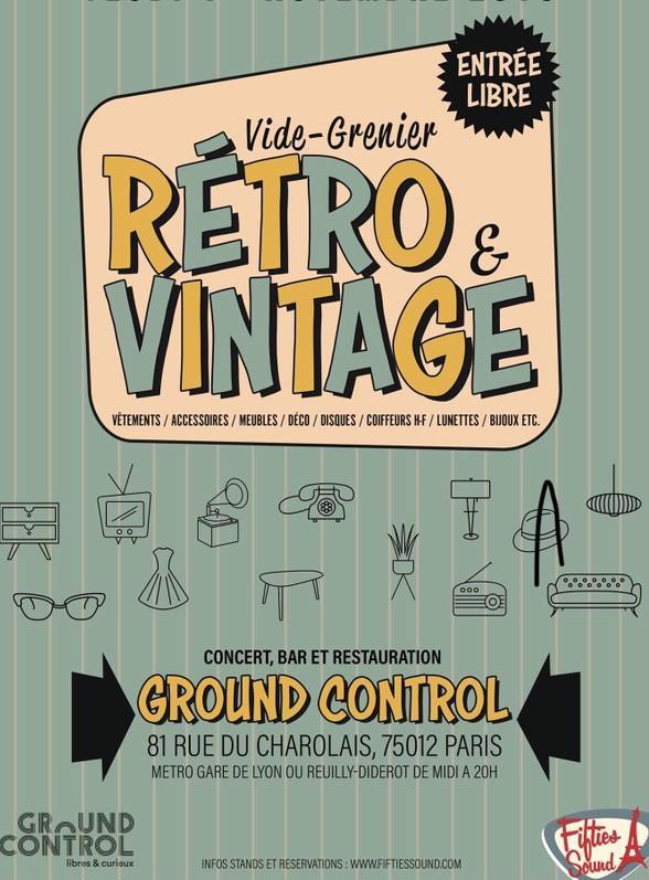 vide grenier retro vintage paris 75012 tous les mois. Black Bedroom Furniture Sets. Home Design Ideas