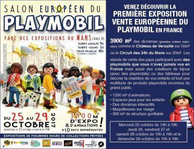 Salon p en du playmobil le mans 72100 28 10 2017 for Salon du playmobile le mans
