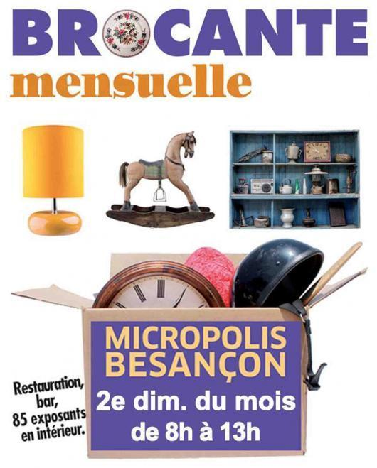 brocante mensuelle micropolis besan on besancon 25000 08 07 2018. Black Bedroom Furniture Sets. Home Design Ideas