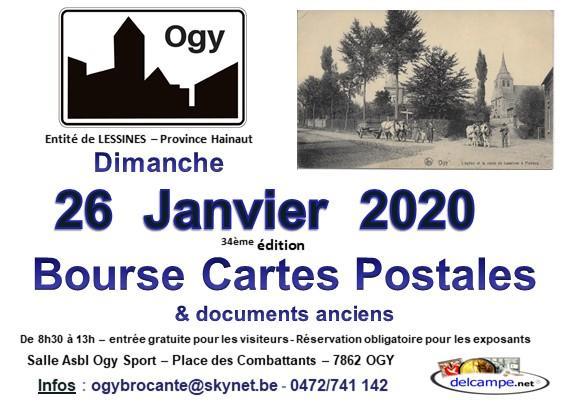 34ème bourse cartes postales et documents anciens de Ogy (Lessines)