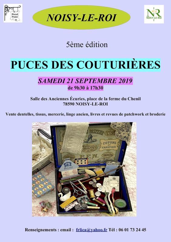 Carte De Noel Yahoo.5ème Puces Des Couturières D Noisy Le Roi 78590 21