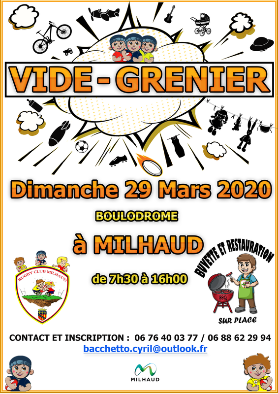 Calendrier Des Vide Grenier 2020.Vide Grenier Milhaud 30540 29 Mars 2020