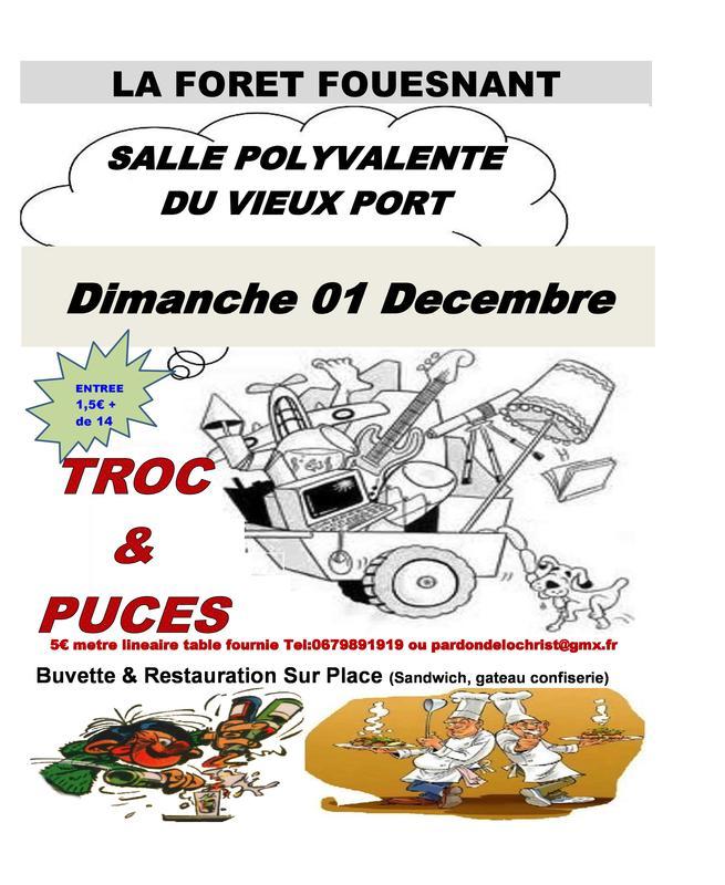 Calendrier Troc Et Puces 56.Troc Et Puces La Foret Fouesnant 29940 01 Decembre 2019