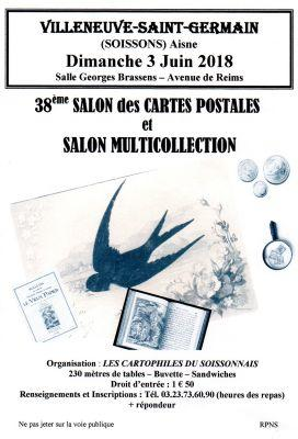 Salon des cartes postales et multicollection villeneuve for Bureau 02 villeneuve saint germain