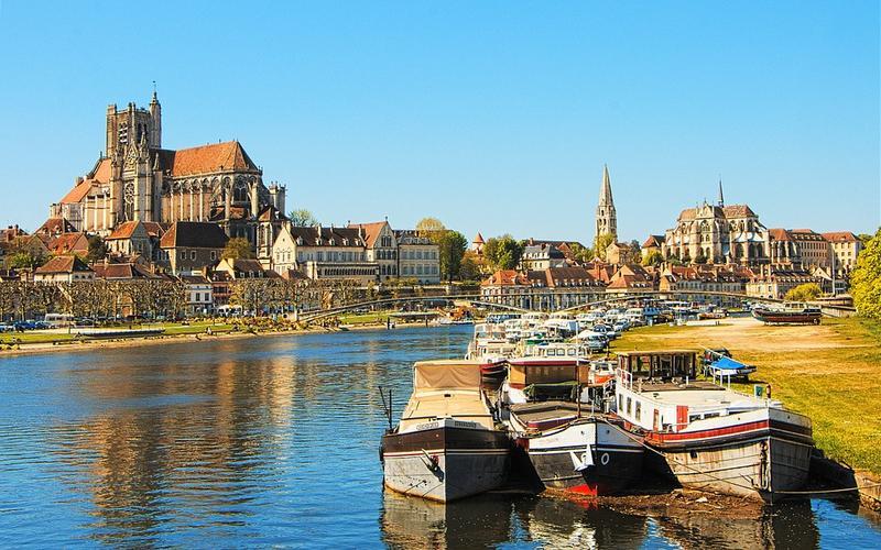 Panorama sur la ville de Auxerre