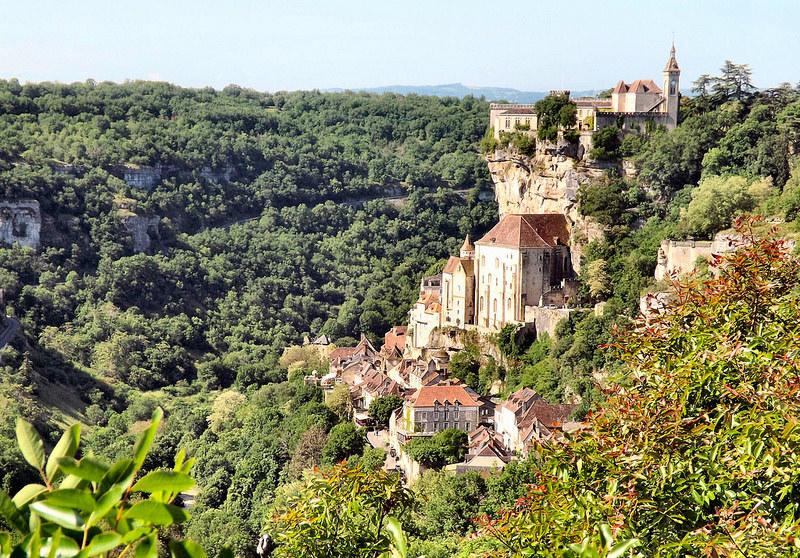 Vue panoramique sur la ville de Rocamadour