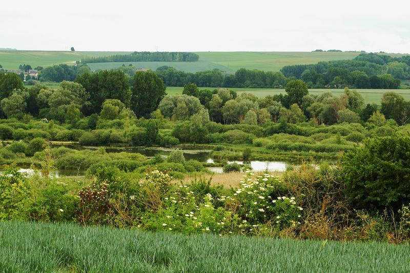 La vallée de la Somme depuis Eclusier-Vaux
