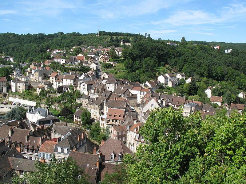 Vue panoramique sur la ville d'Aubusson