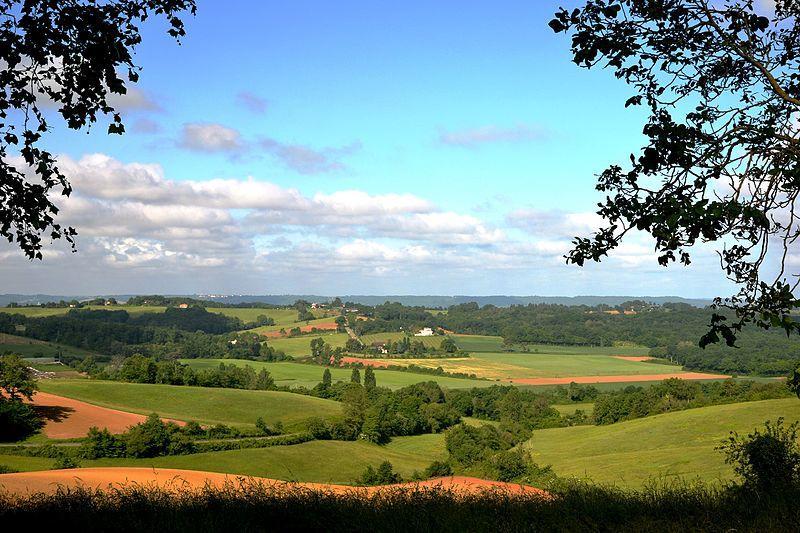 Vue du paysage agricole depuis Couloumé-Mondébat