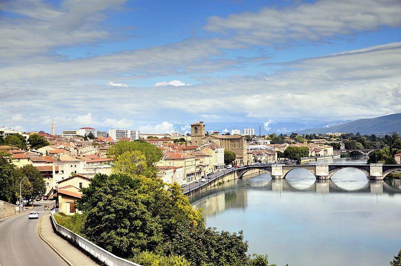 Vue panoramique sur la ville de Romans sur Isère