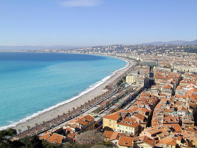 Vue La baie des Anges à Nice