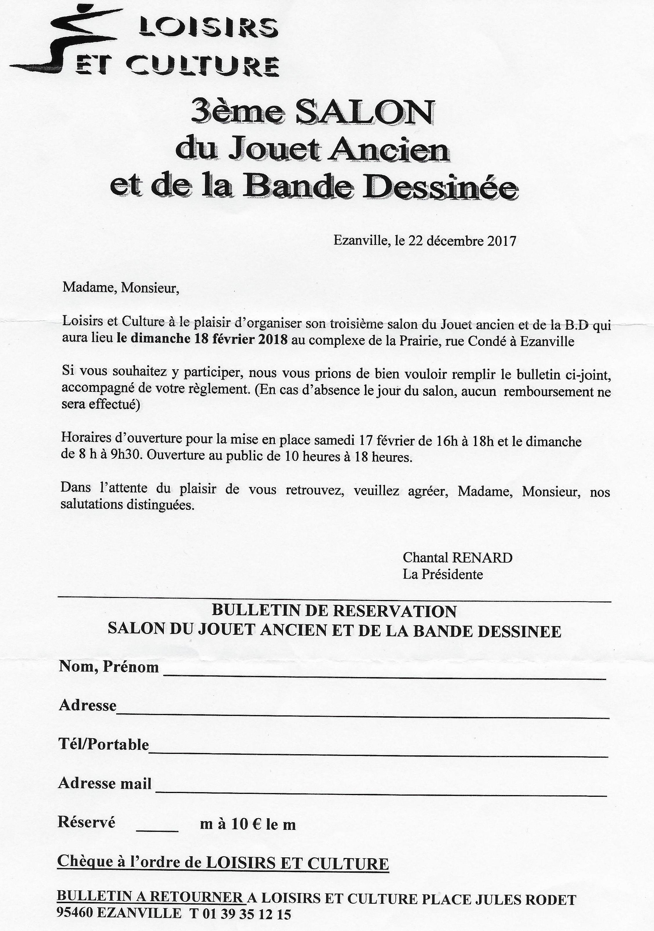 3éme Salon du Jouet Ancien et de la Bande Déssinée - EZANVILLE ...